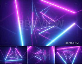 13组霓虹灯光线几何射线背景特效 视频素材PR/AE/FCPX