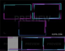 6组霓虹灯发光动态线条边框背景 MOV视频素材PR/AE/FCPX